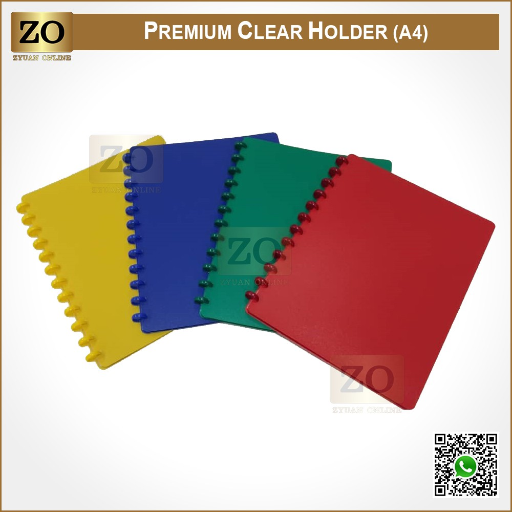 Premium Clear Holder File Refillable A4 20's