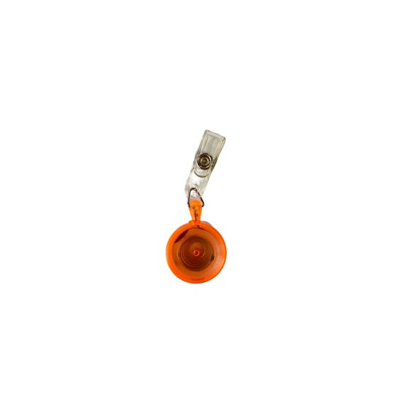 Round Shape Yoyo Pulley For ID Tag Holder (Orange)
