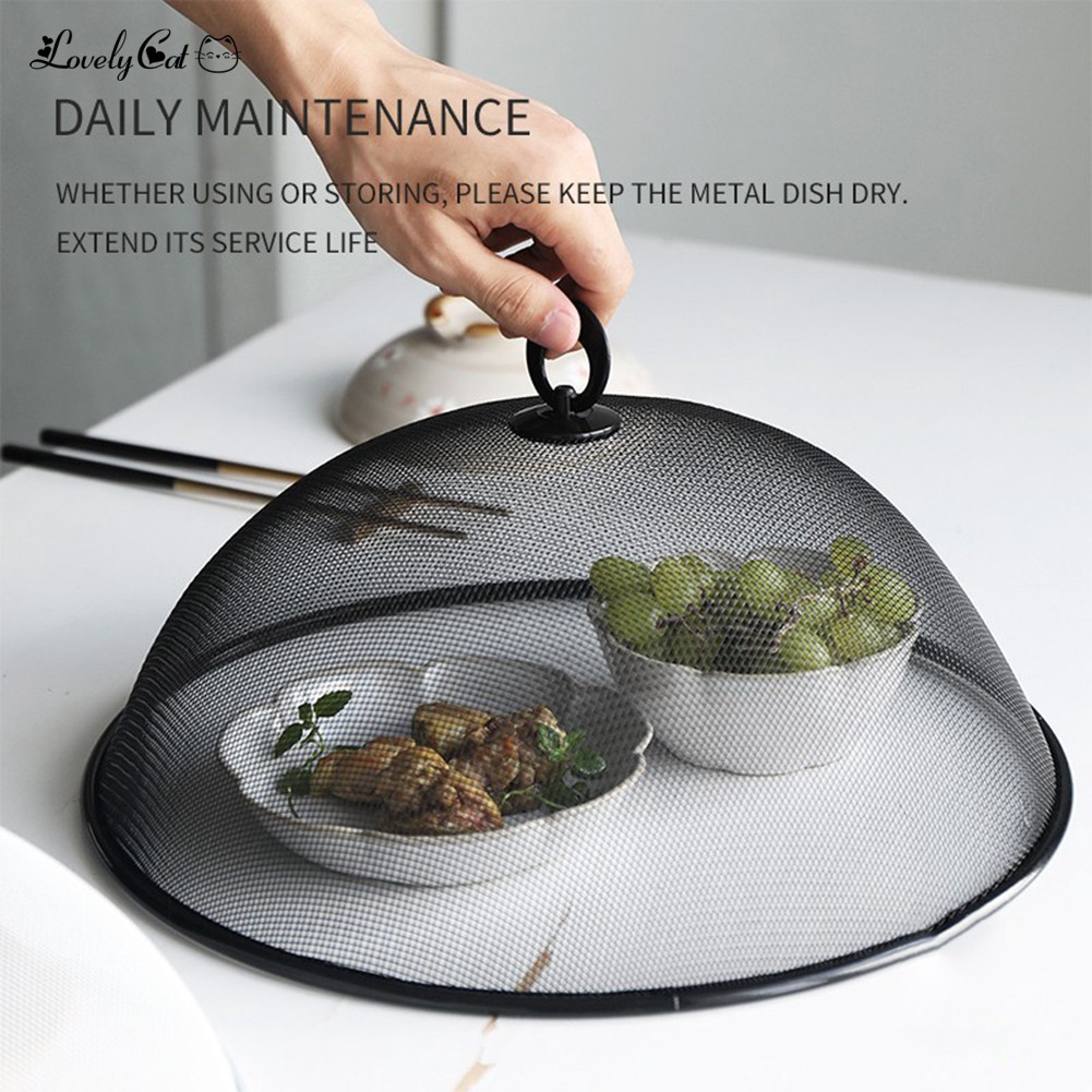Kitchen Stainless Steel Mesh Plate Dish Lid Food Cover Meal Food Protector Tent