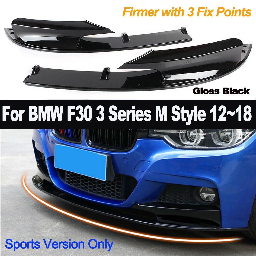 🔥 Gloss Black Front Bumper Chin Lip For BMW F30 3 Series M Style 2012-2018