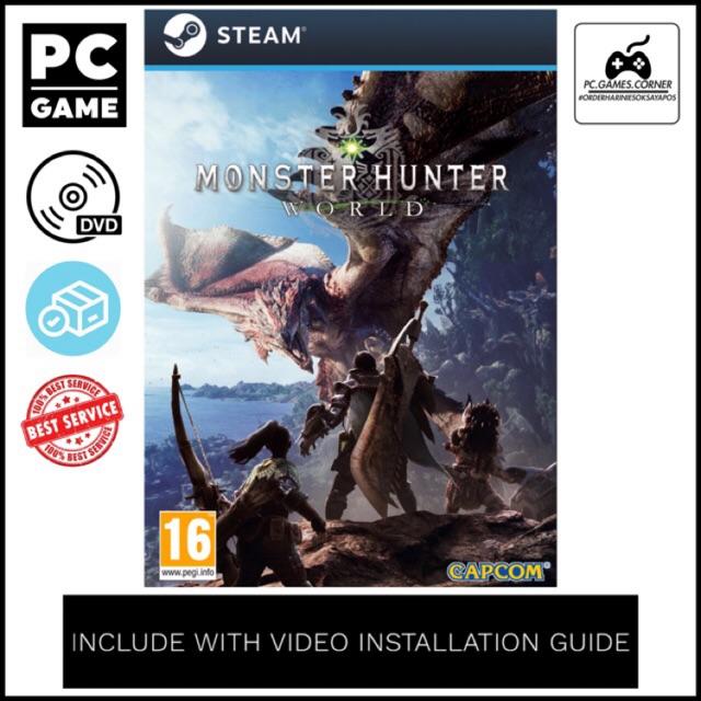 [PC Game] Monster Hunter World Incl 56 DLCs - Offline [DVD]