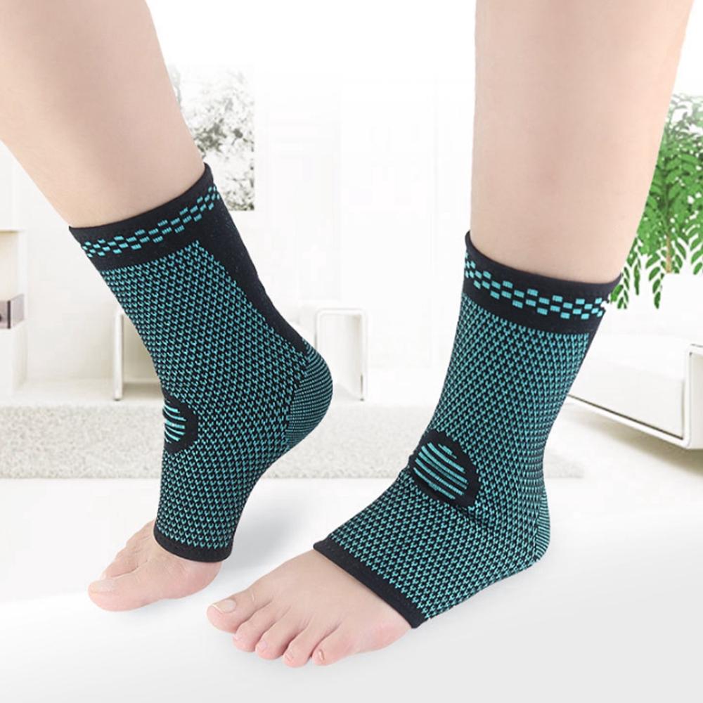 ปลอกสวมหุ้มข้อเท้าผ้าถักระบายอากาศ