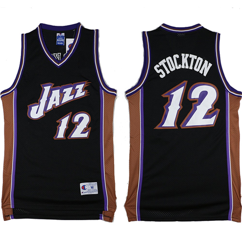 separation shoes e2969 16dc6 1996/97 Utah Jazz #12 Men's Embroidery Retro Edition Black Swingman Jersey