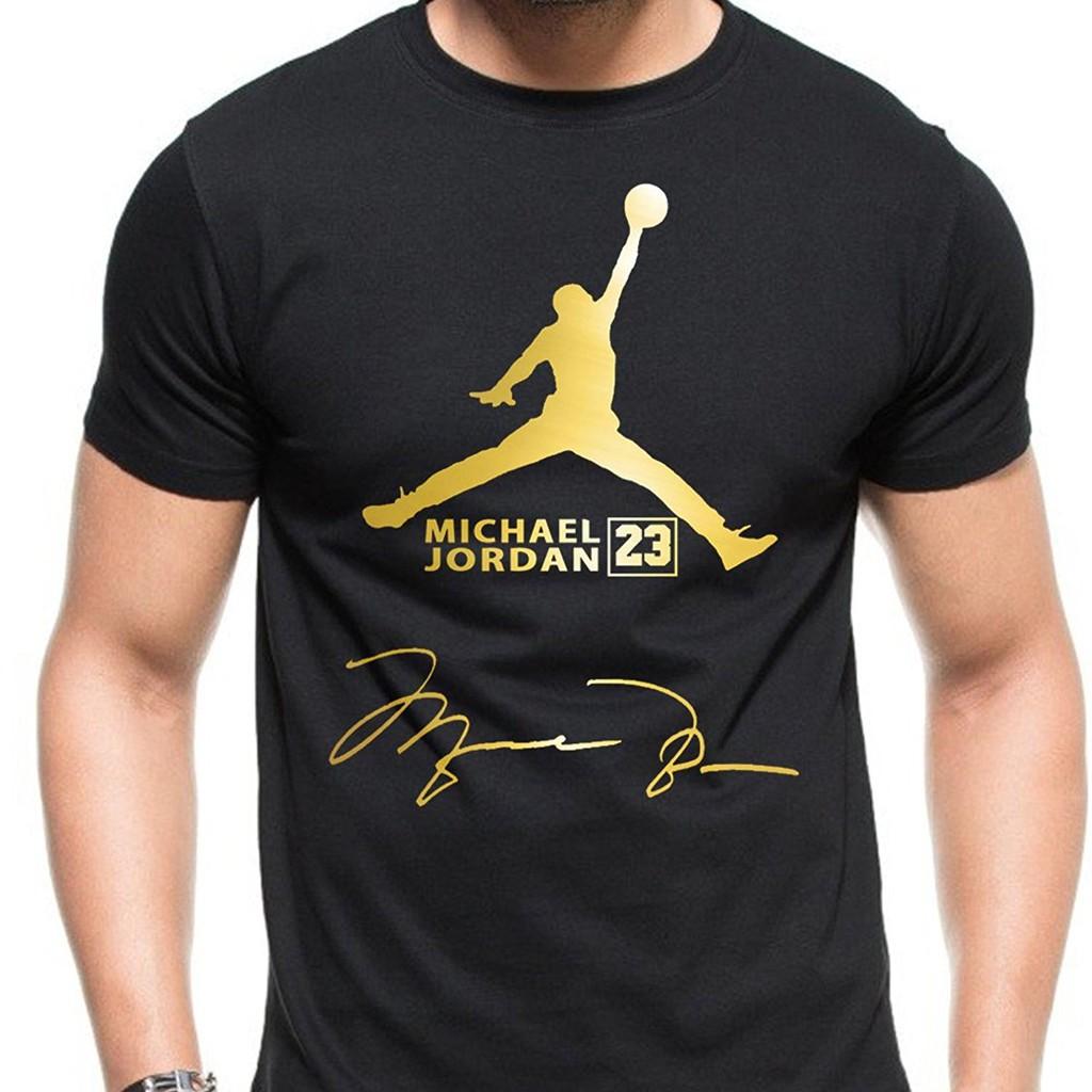 c231e848 air jordan logo gold vr for men T shirt Round Neck Fashion Top Tee