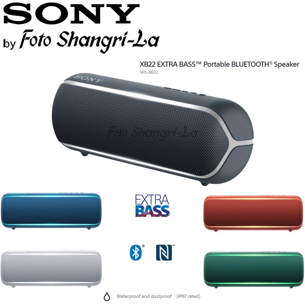 Sony Srs Xb22 Xb22 Extra Bass Sound Wireless Portable Bluetooth Speaker Shopee Malaysia