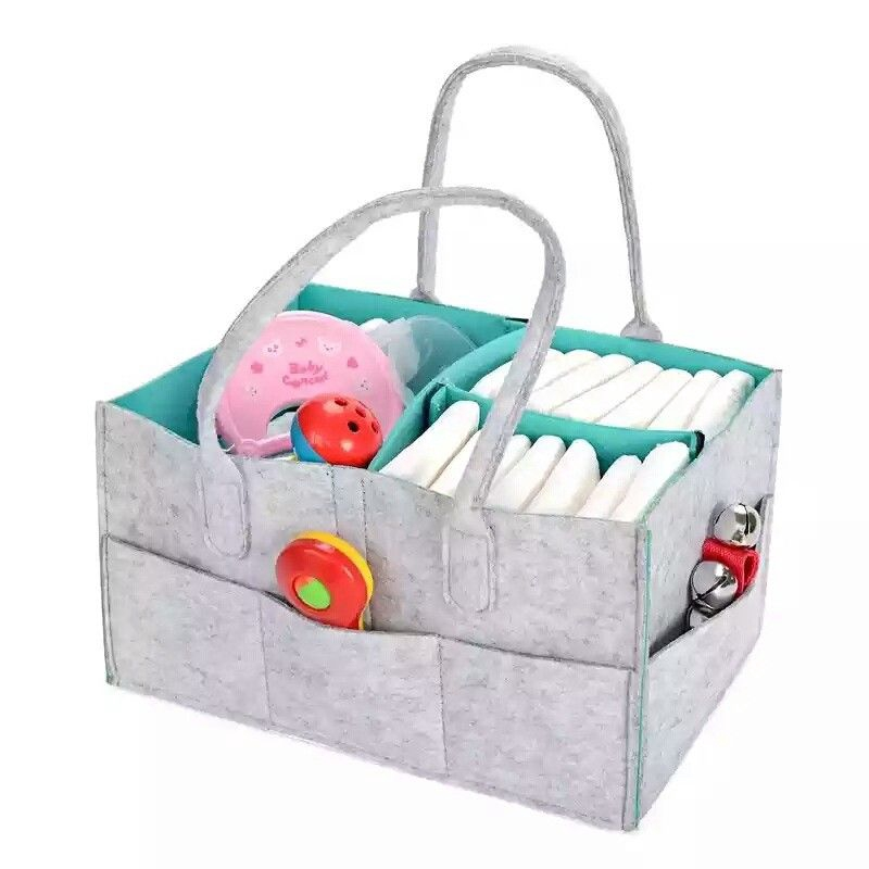 Baby Baby Diaper Organizer Caddy Felt Changing Nappy Kids Storage Carrier Bag Box UK Baby Changing & Nappies