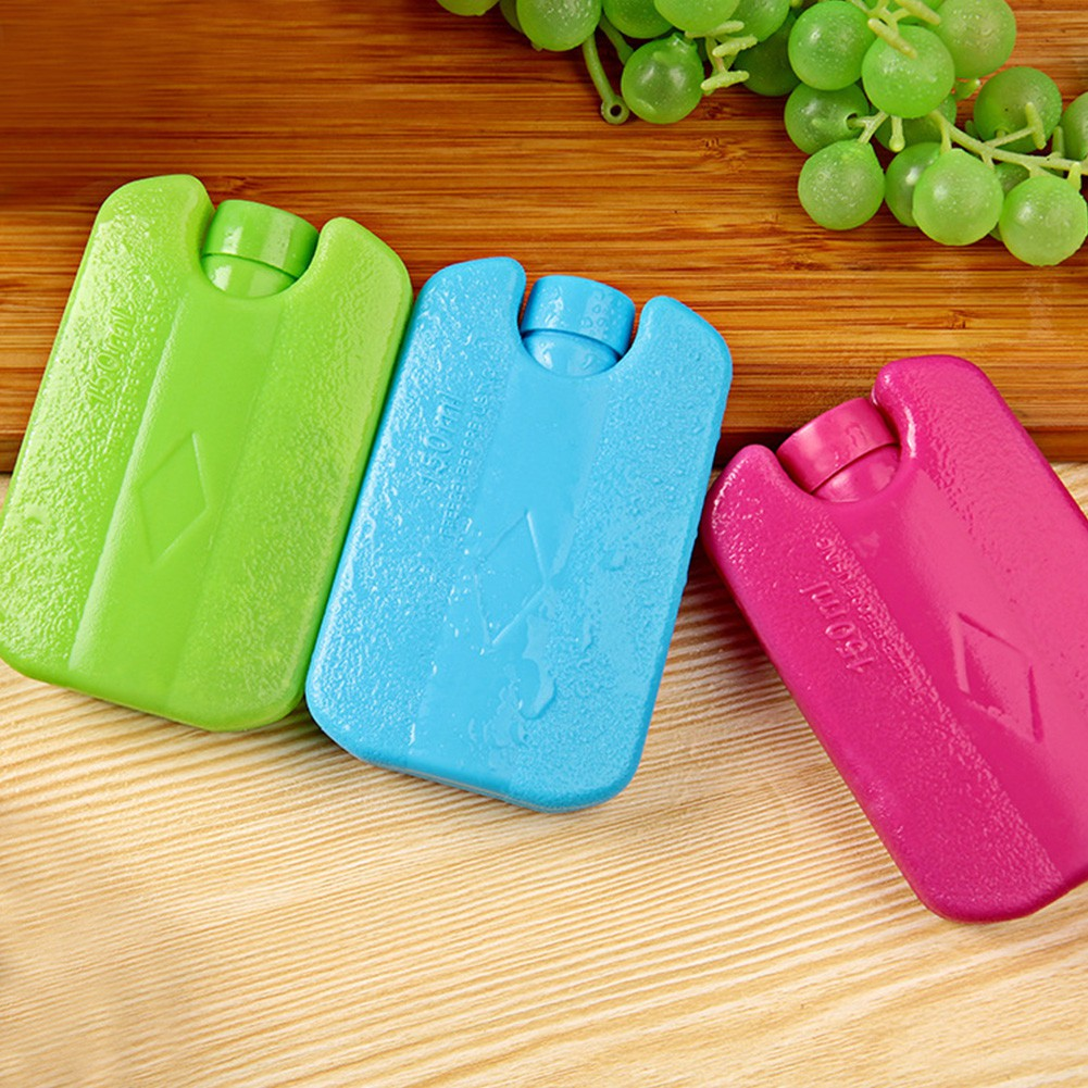 3 pack Reusable High Quality Plastic Freeze Board Ice Blocks Cooler Cool Boxes