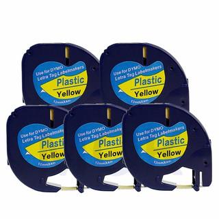for Dymo Letratag Cartridge Plastic Refill 12mm x 4m Dymo LT 100H 100T  DM-91202