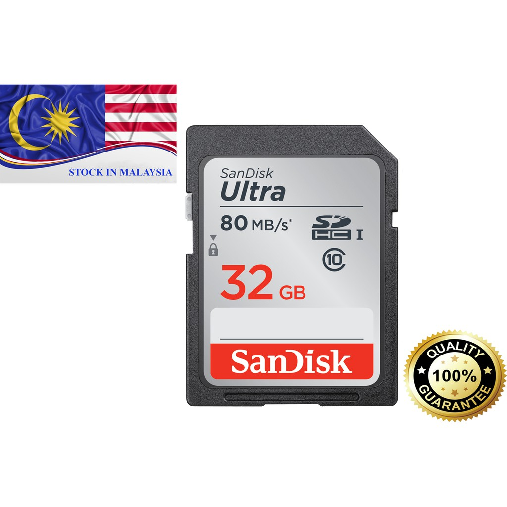 SanDisk Ultra® SDHC™ Card 32GB (Ready Stock In Malaysia)