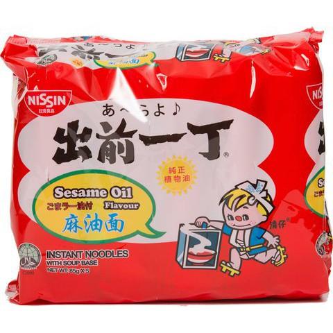 Nissin Brand Instant Noodles Sesame Oil Flavour 85G*5 出前一丁麻油面