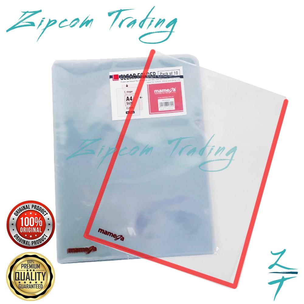 Mamega Transparent PVC Clear Folder A4 Size / Non Toxic & Flexible