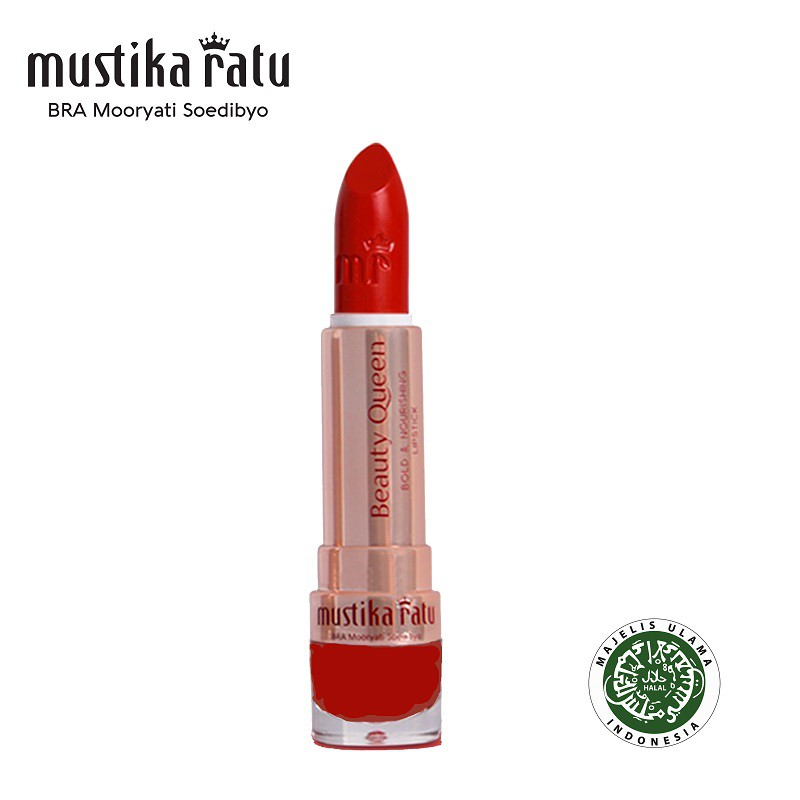 Mustika Ratu Beauty Queen Bold & Nourishing Lipstick - 01 Red (4g)