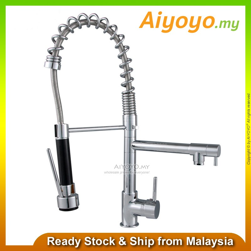Pull Down Spring Kitchen Mixer Water Tap Kitchen Tap Sink Tap Water Tap Faucet Bathroom Bath Wash Basin Lavatory Bathtub