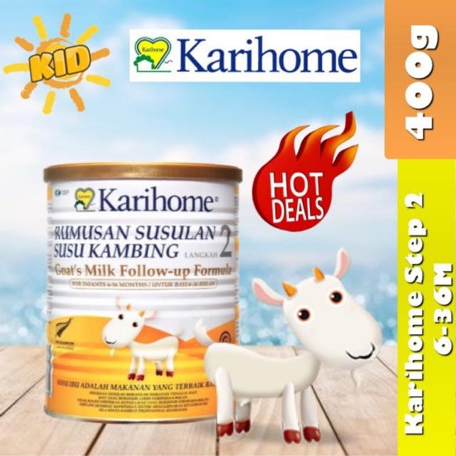 Karihome Follow Up Formula Step 2 400g (6-36 Month) Exp 03/2022