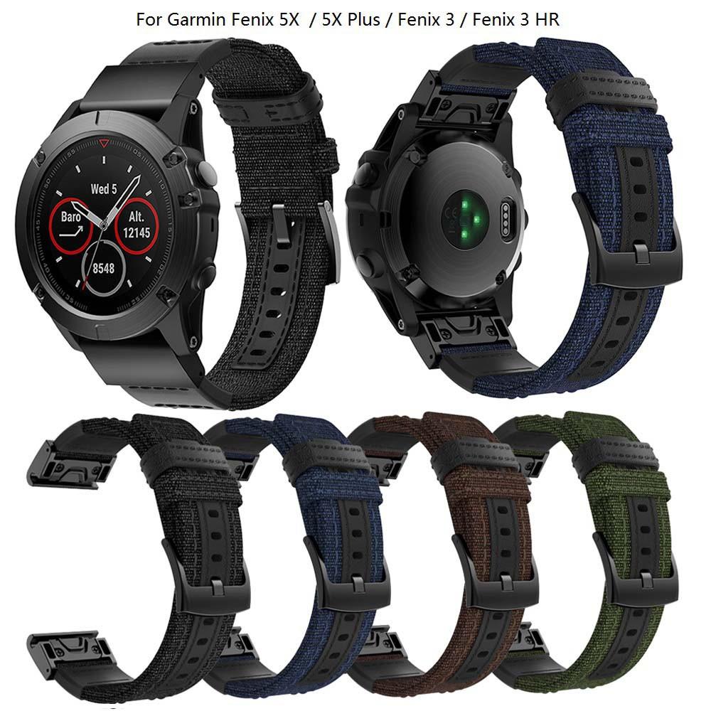 Details about  /Garmin Fenix 3 HR 5X 6 Plus Wristband Band Replacement Black