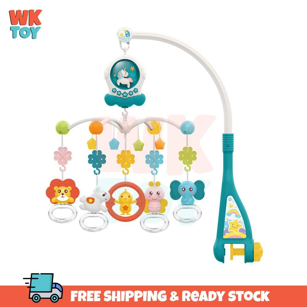 WKTOY Huanger Unicorn Baby Bed Bell Musical Rattle Toy
