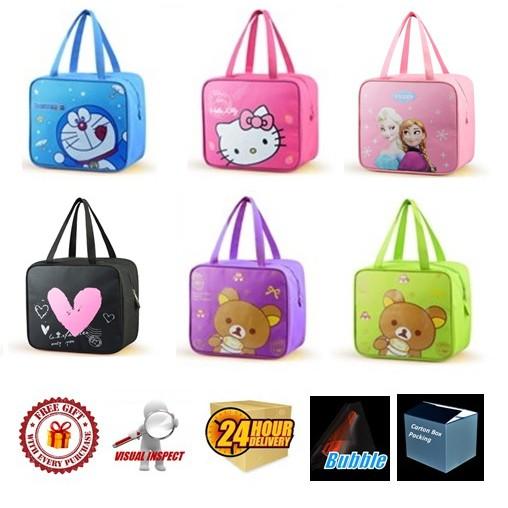 Insulated Thermal Cooler Bag (Design 2) Hello Kitty/Doraemon /Rilakkuma/ Frozen