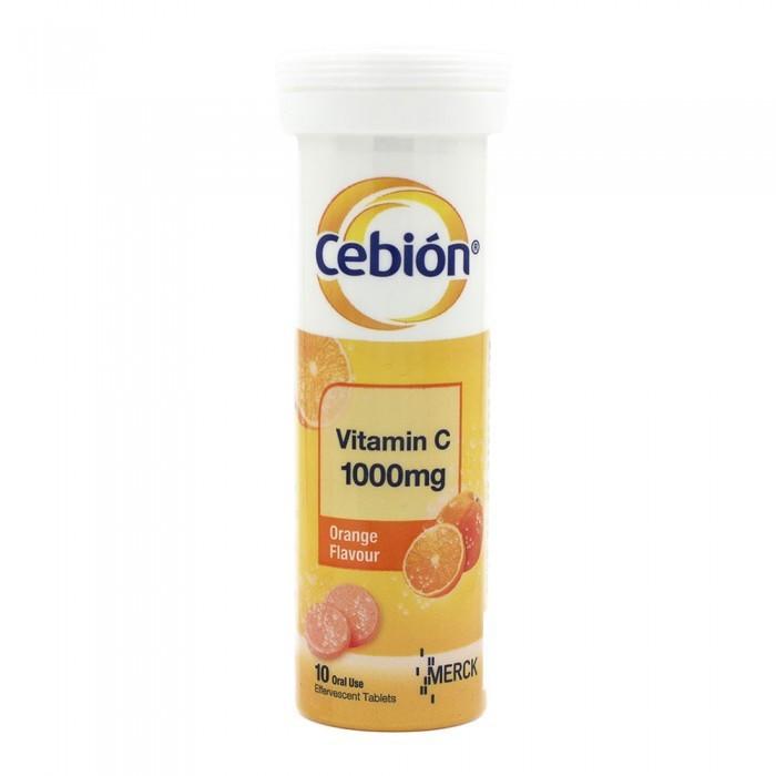 Cebion Vitamin C Effervescent 1000mg 10's