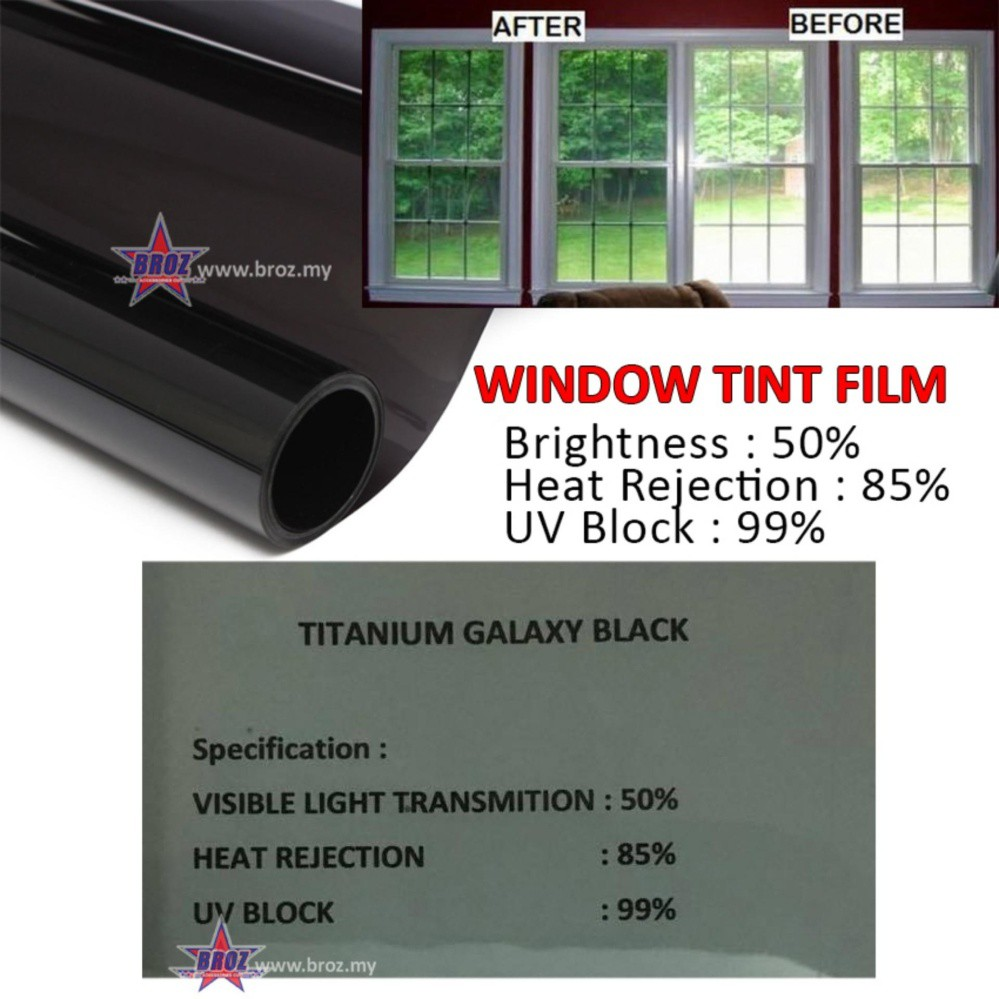 Solar Window Film >> Solar Window Tint Film For Building Titanium Galaxy Black 50