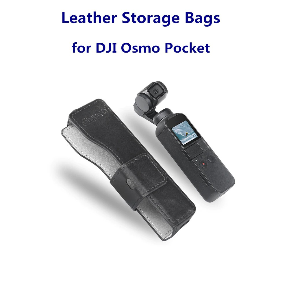 Mini Portable Waterproof Case PU Leather Storage Carrying Bag for DJI OSMO Pocket Handheld Gimbal Accessories