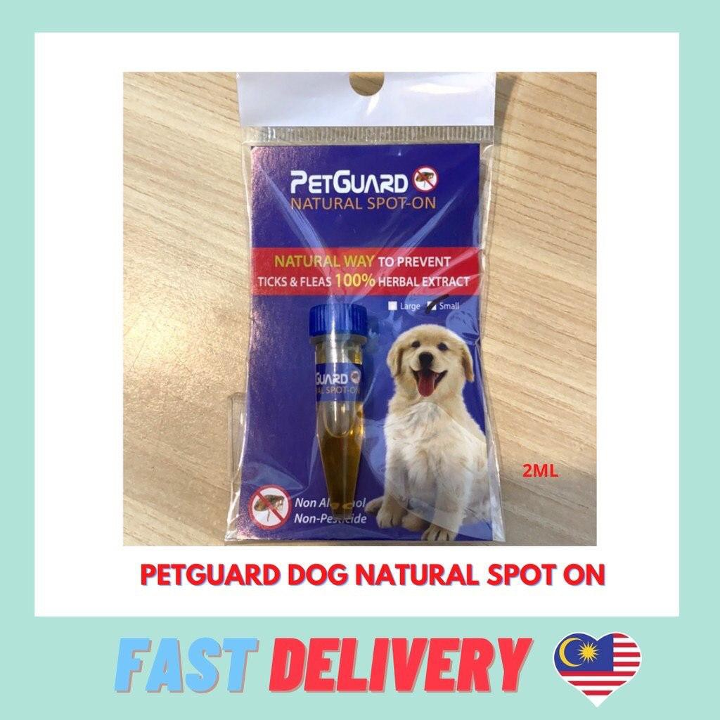 Petguard Natural Spot On - Fleas & Ticks Control 2ml Ubat Kutu