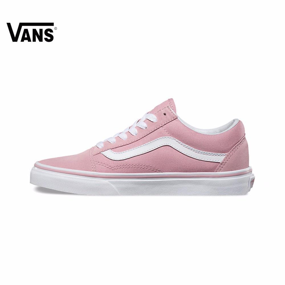 6f8fb003 Original Vans Folder OLD SKOOL Pink Unisex Sneakers free shipping Classique  Shoe