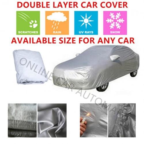 High Quality Double Layers Waterproof PEVA PVC Car Cover Perodua Myvi 2018/2019