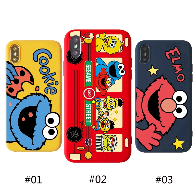 iPhone 6 6s 7 8 Plus X XS XR XSMax Sesame Street Silicone Casing Phone Cell