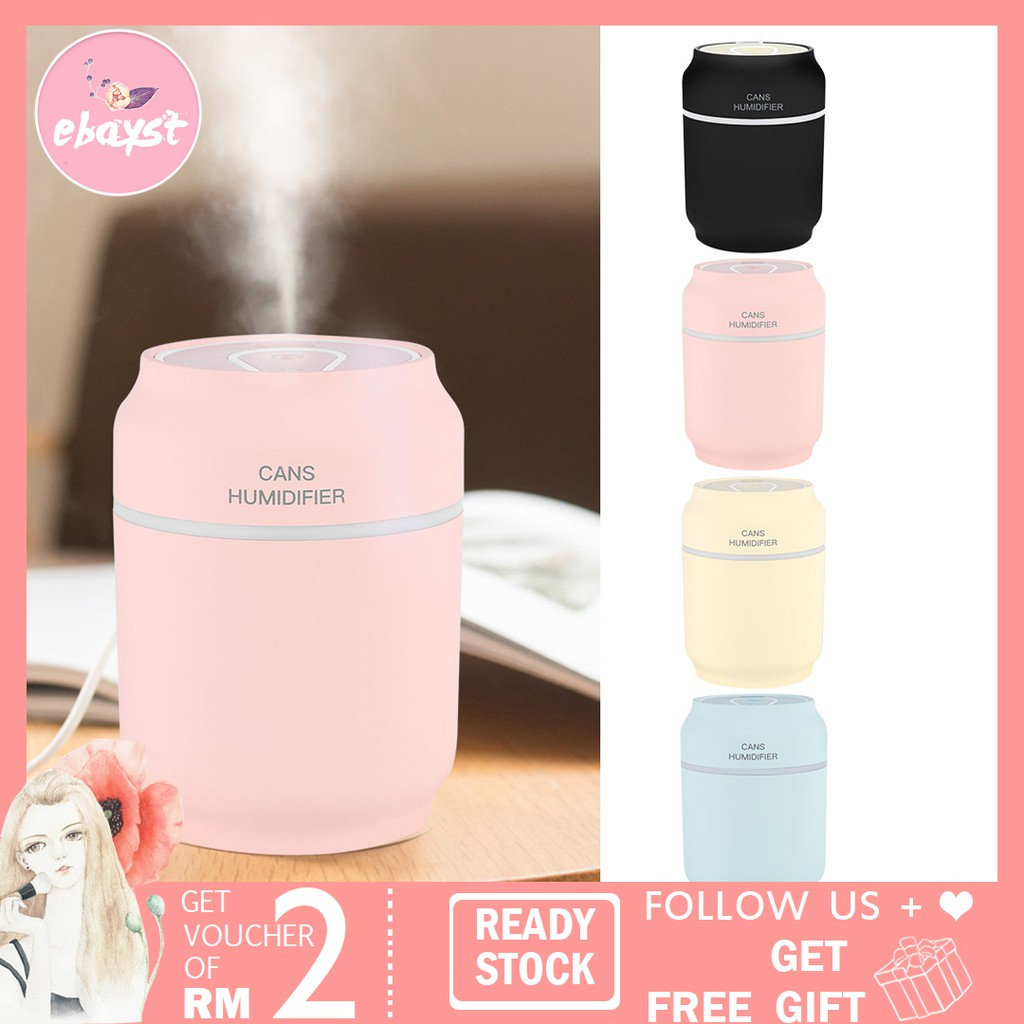 963c71a35912 200ML Portable USB Car Mist Humidifier Air Purifier Freshener With LED Lamp  Fan