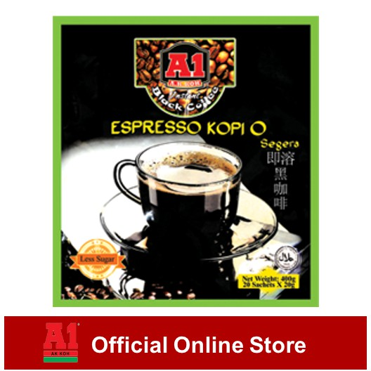 A1 Instant Espresso Kopi O (20g x 20 sachets)