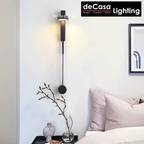 LED Wall Light Modern Wall Lamp Adjustable Angle Bedroom Bedside Wall Lamp Reading Light Warm White (B2020)