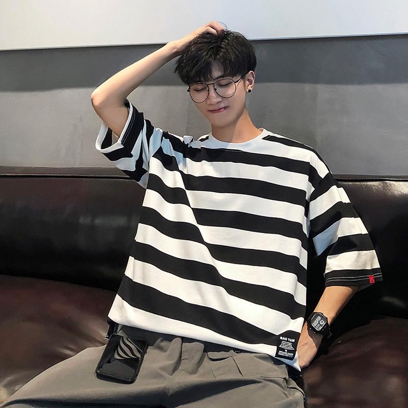 Mens Long T-shirt Cotton Japanese Trench Coat Style Long//Short Sleeve Short Tops