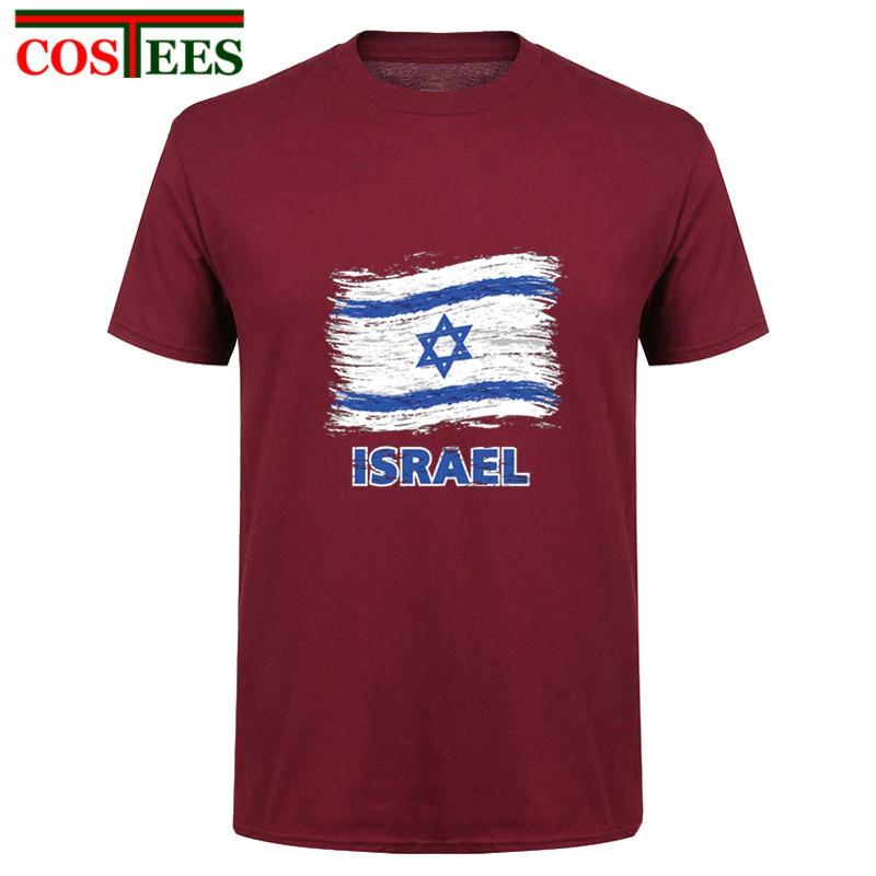 456a6324e416d Israeli Flag t shirt men short sleeve men's leisure tshirt Israel flag tee  shirt