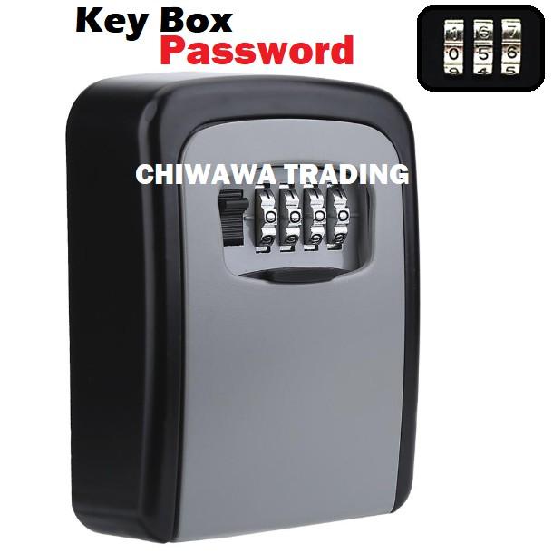 4 Digit Code Combination Password Key Locker Secure Safe Lock Wall Mounted Storage Key Box Homestay Guest Key Organizer