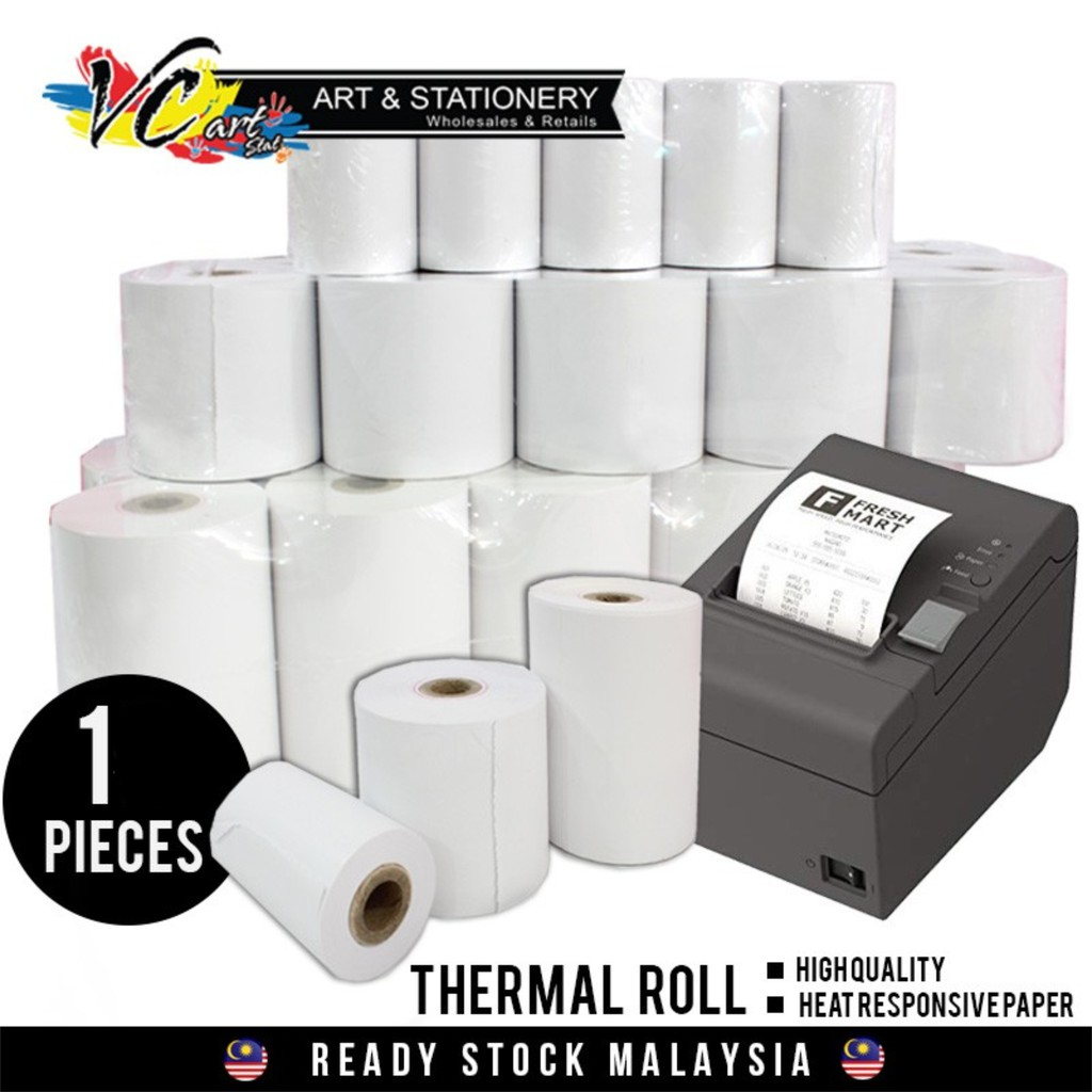 suitable for 58mm bluetooth printer 10x thermal paper roll /ø40 x 58 mm wide