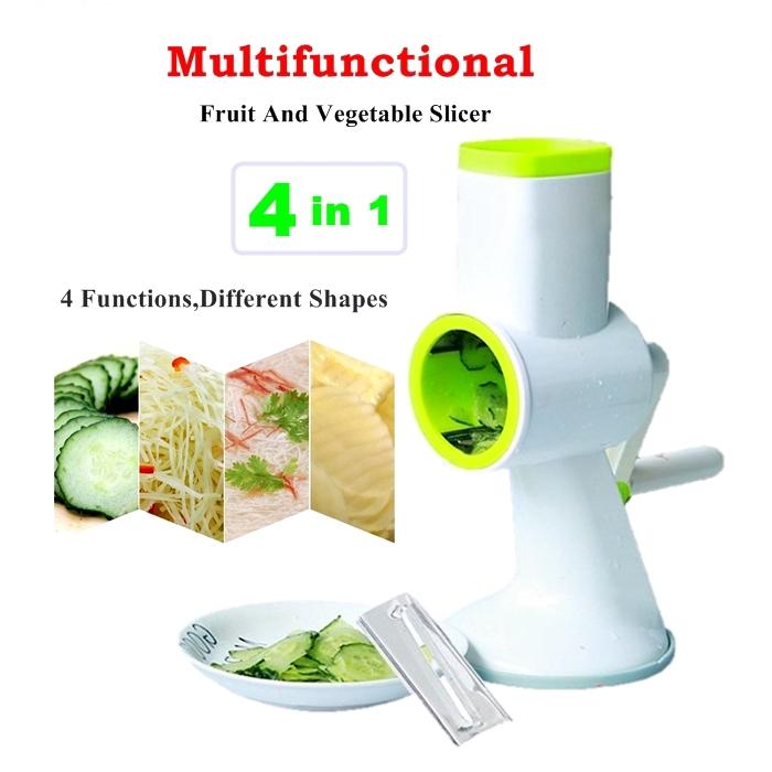 MALAYSIA- 4 DLM 1 BLENDER SAYUR, BUAH, JUS, SALAD /4 in 1 Mandoline Fruit Vegetable Slicer Kitchen Grater