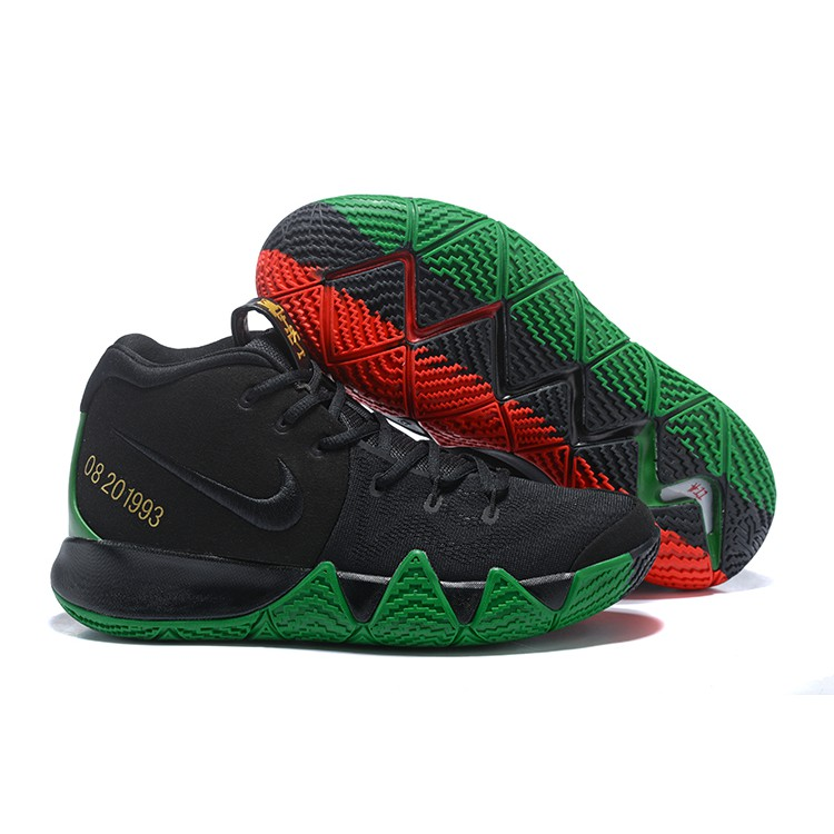 the latest f1a49 82329 2018 Nike Kyrie 4 Black Green Red   Shopee Malaysia