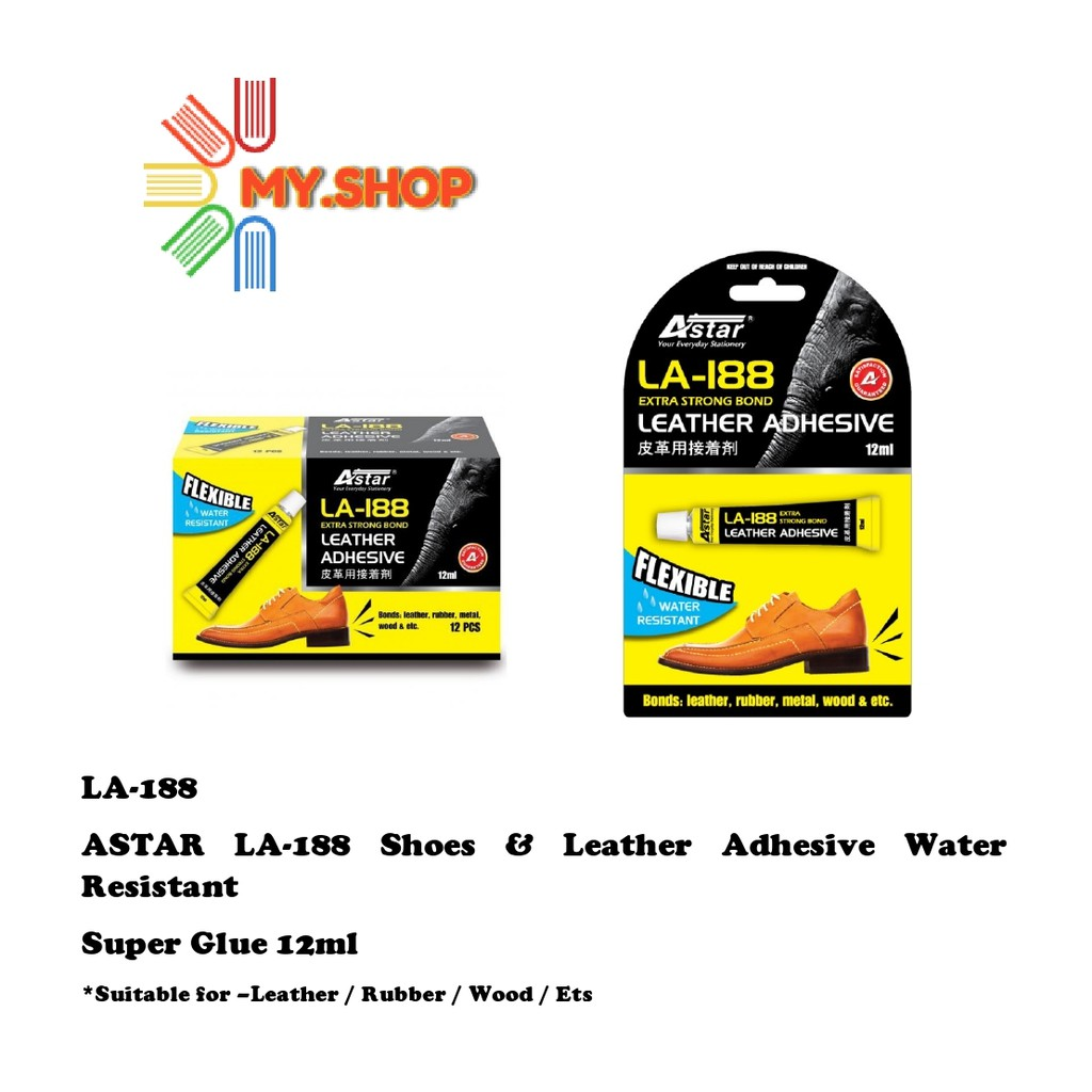 ASTAR LA-188 Shoes & Leather Adhesive Water Resistant Super Glue 12ml