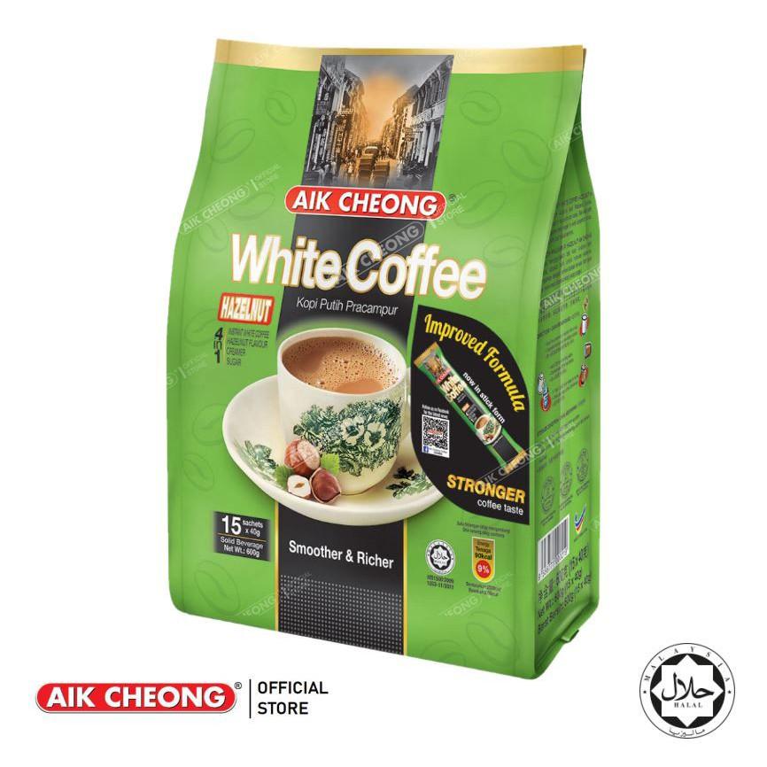 AIK CHEONG White Coffee 4in1 600g (40g x 15 sachets) - Hazelnut