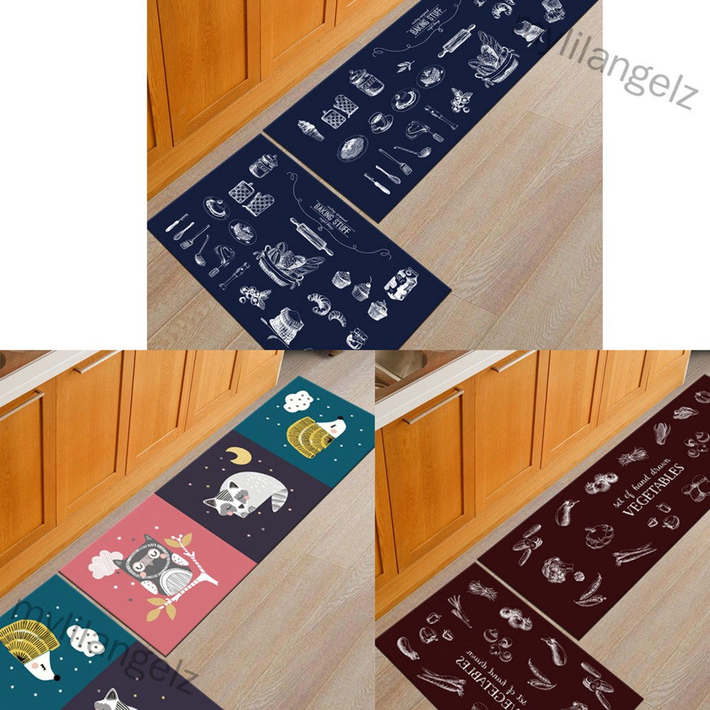 Mylilangelz Non Slip Water Absorption Rectangle Carpet Floor Mat for Home Kitchen Corridor