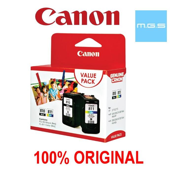 CANON PG810 + CL811 VALUE PACK ORIGINAL CARTRIDGE