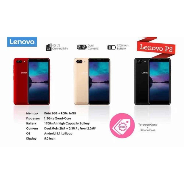 Lenovo P2!! [2gb Ram+16gb Rom] Dual Camera+4G LTE