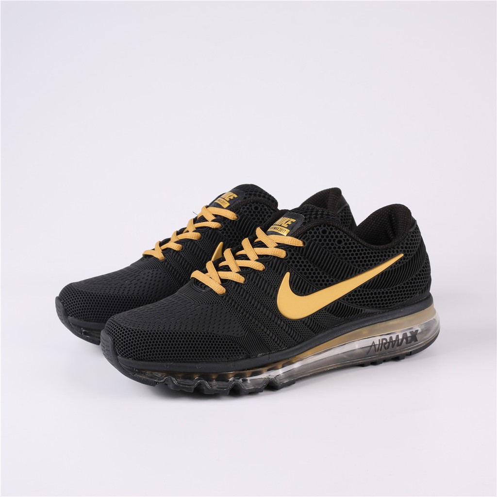 ujęcia stóp wykwintny styl najlepsze oferty na Nike Air Max 2017 Plastic Running Shoes Black Gold Available