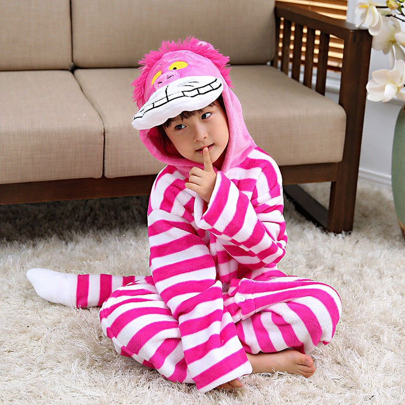 Flannel Unisex kids Animal Onesie1 Kigurumi Cosplay Costume Pajamas Cheese  cat  83b75d2f31423