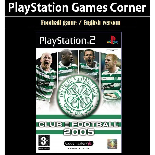 PS2 Game Club Football 2005 Celtic, English version, Football Game / Playstation 2 / Playstation 3