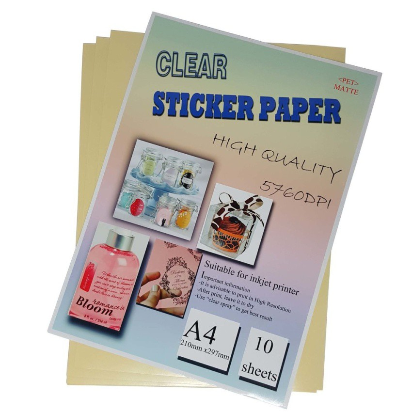 graphic regarding Clear Printable Paper referred to as A4 Crystal clear (Doggy) Sticker Paper For Inkjet Printer 10desktops/pkt