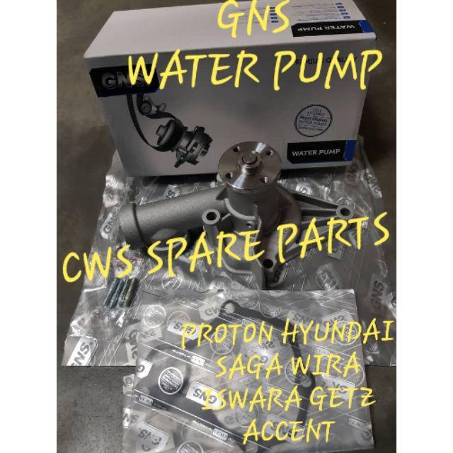 PROTON HYUNDAI SAGA WIRA ISWARA ACCENT GETZ 1 3 1 5 WATER PUMP GNS GWM-17A