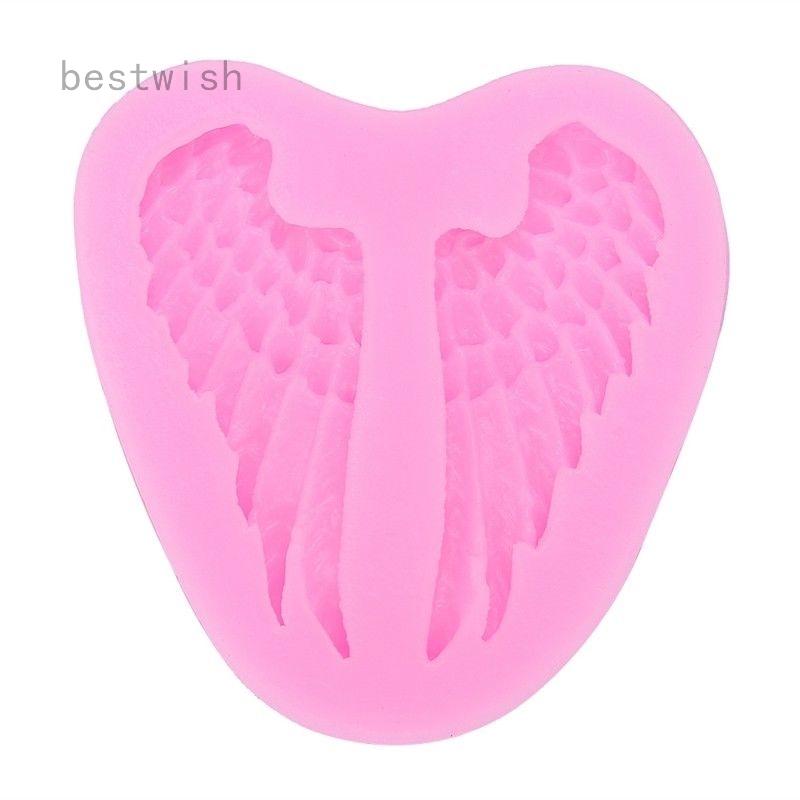 Vintage Heart Angel Wings Fondant Mold Silicone Sugarcraft Cake Decorating Molds