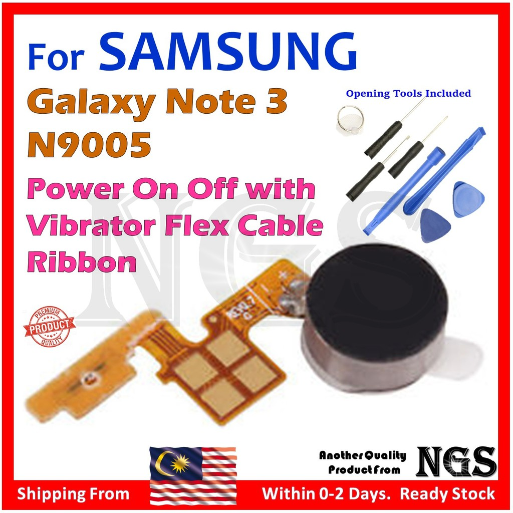 Samsung Galaxy Note 3 Power On Off Vibrator Flex Cable Ribbon + Opening  Tools