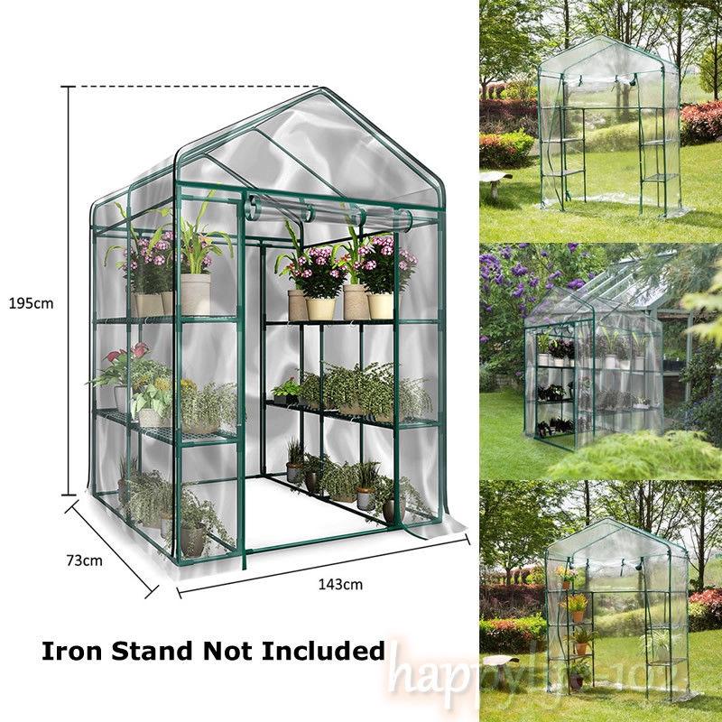 143 X 73 X 195cm 4 Tier Mini Greenhouse Iron Stands Shelves Garden Balconies Patios Decoration Flower Plants Warm House Fine Quality Garden Buildings